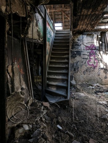 STAIRS IN ABANDONED KRANKEN HAUS