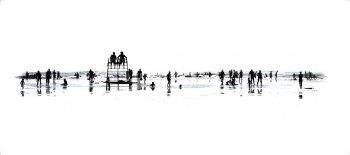 beach-37-Tirage argentique sous Diasec. Dimension : 40x90 cm