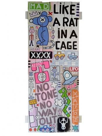 Like A Rat In A Cage 160x62 cm